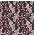 ornamental seamless pattern with bird and leaf vector image vector image