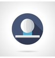 Ball shaped fountain flat round icon vector image