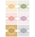 decorative pattern and frame template second set vector image