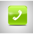 Glass Phone Button Icon vector image
