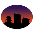 Houses silhouettes vector image