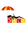 big sale concept with a beautiful girl in vector image