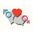 male female chatting vector image