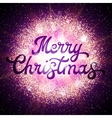 Christmas card with lettering glittering elements vector image