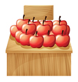 An apple fruitstand with an empty signage vector image vector image
