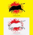 charging bull fighting bull vector image