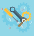 flat repair icon mechanic service concept web vector image