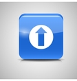 Glass Upload Button Icon vector image