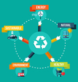 Recycle hands diagram flat concept vector image