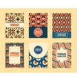Template Vintage creative cards vector image