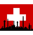 Industry and flag of Switzerland vector image
