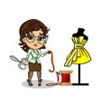 A tailor designer clothes vector image