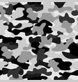 camouflage seamless pattern in a white grey and vector image