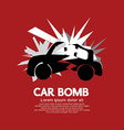 Car Bomb Graphic vector image