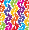 colorful feet background vector image