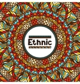 Ethnic background design with hand drawn ornament vector image
