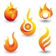 Fire flames symbol icon vector image
