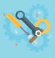 flat repair icon mechanic service concept web vector image