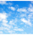 Fluffy clouds vector image