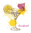hand draw cocktail vector image