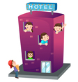 isolated Hotel vector image