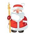 Isolated smiling cartoon Santa Claus character vector image