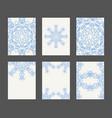 mandala card template set vector image