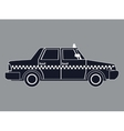 silhouette taxi car side view vector image
