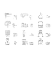 Sketch icons collection for metrology vector image