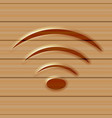 wireless web icon wooden background vector image