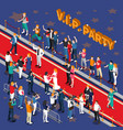 vip party isometric vector image