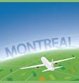 montreal flight destination vector image