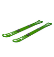 Green skiing on white background vector image vector image