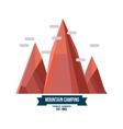 Majestic mountain peak vector image