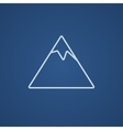 Mountain line icon vector image