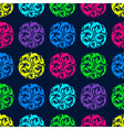 Bright seamless pattern with circles vector image