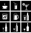 drinks icons vector image