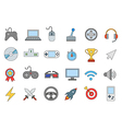 Entertainment colorful icons set vector image