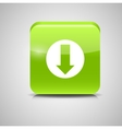 Glass Download Button Icon vector image