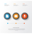 interface icons set collection of letter mike vector image