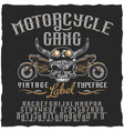 motorcycle gang label typeface poster vector image