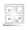 window night view vector image