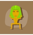 paper sticker on stylish background mummy vector image