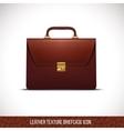 brown color leather briefcase icon vector image