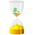 Hourglass The inevitable time vector image vector image