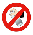 Do not write on the walls vector image vector image