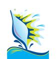 abstract decoraive sea shell vector image