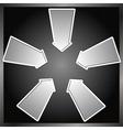 five arrows vector image vector image