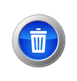 recycle bin button vector image vector image