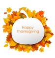 Happy Thanksgiving background with maple leaves vector image vector image